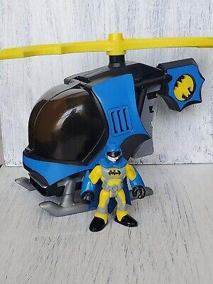 Batman Imaginext Figure and Helicopter Bat Copter Pilot