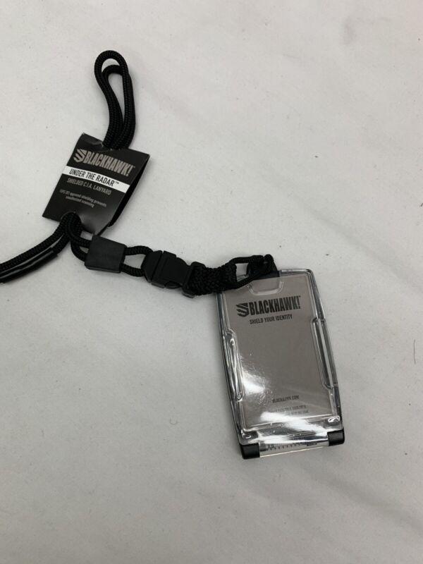 BLACKHAWK 90ID04BK C.I.A ID Lanyard Black Security Shielded