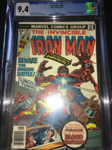 Iron Man #89 CGC 9.4 - Blood Brothers & Daredevil Appearance - 1976