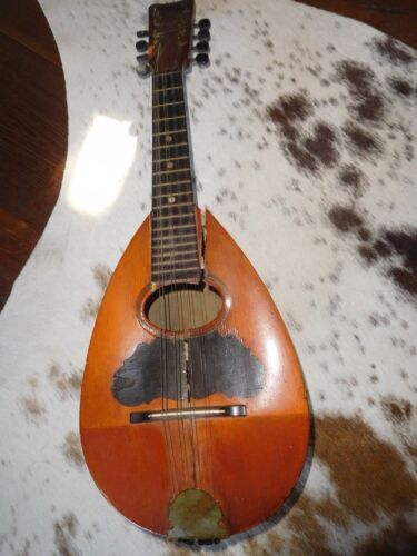 ANTIQUE HAND MADE MANDOLIN 1700s - 1800s RARE MUSICAL INSTRUMENT REPAIR LUTE