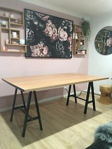 Solid wood ash dining table 1.8m