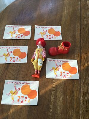 Lot of Vtg McDonalds Memorabilia.Ronald 1976 Doll.5 Party Invites. Mail Holder.