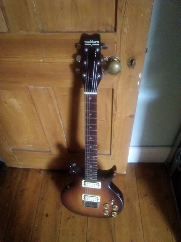 Vintage Guitar Washburn Wing Raven 80s Rare Japan Working