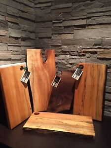 Hand made cutting & live edge serving boards