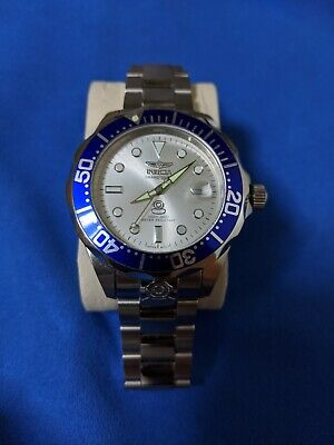 Invicta Pro Diver 3046 Wrist Watch for Men, Silver/White