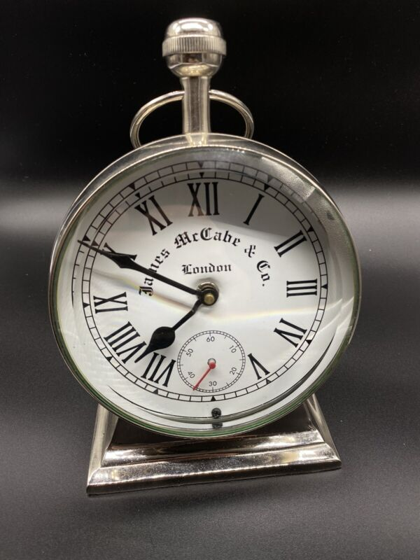 James McCabe & Co Mantle/Table Clock Nickel from Ethan Allen