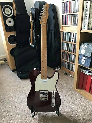 fender telecaster mexican 1998 with upgraded pickups and hardware