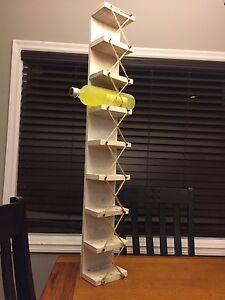 Reclaimed Hardwood Wine Rack