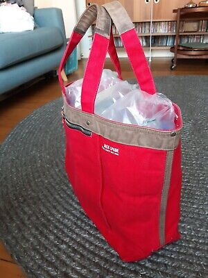 Jack Spade - Industrial Canvas Coal Bag - Fire Engine Red - Large Tote