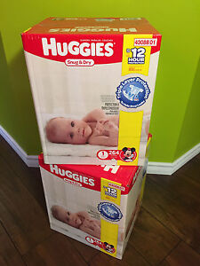 2 x 264 Huggies Snug & Dry disposable diapers Size 1