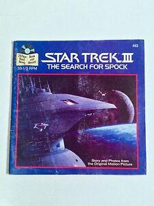VINTAGE 1984 STAR TREK III READ-ALONG BOOK/RECORD