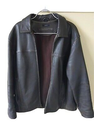 Claiborne Outerwear 100% Lambskin Leather Jacket Men's size M Quilted Lining  Lined Lambskin Leather