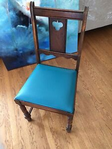 Antique Wood Chair - Set of 4