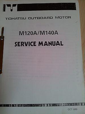 TOHATSU M120A M140A SERVICE MANUAL OUTBOARDS AUSSENBORDER