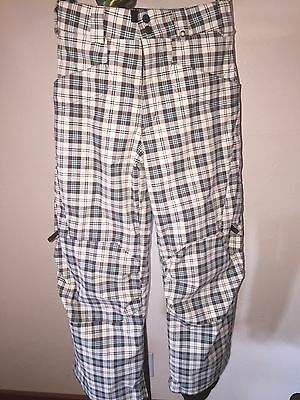 GirlS BURTON SNOWBOARD PANTS WITH REMOVABLE FLEECE PANTS SZ LARGE *MINT