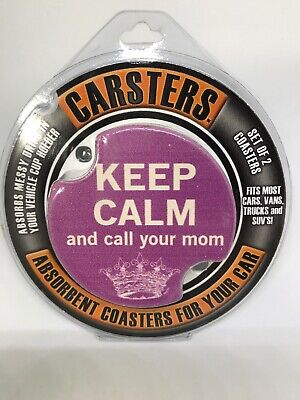 Thirstystone Car Coasters Carsters Call Your Mom  -