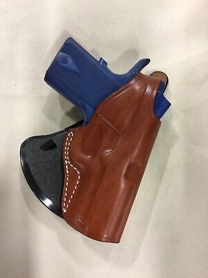 "Leather PADDLE Holster: COLT OFFICER 1911 - 3"", KIMBER ULTRA/PRO CARRY  (# 3093) Paddle Holster Colt"