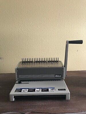 Ibico Ibimatic Industrial Metal Comb Binding Machine - Includes Paper Binders