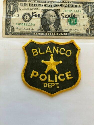 Rarer Blanco New Mexico Police Patch Un-sewn great condition