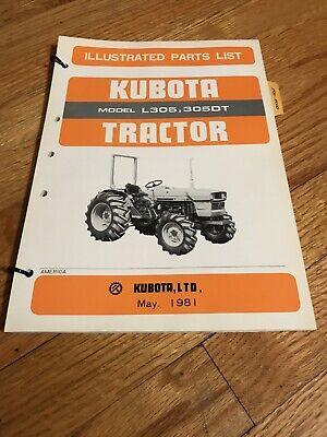 Genuine Original Kubota L305 3050dt Tractor Parts Book Caralog Manual