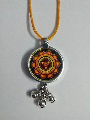 92.5 Sterling Silver Hindu Deity Goddess Kali YANTRA Photo Print Bell Pendant for sale  Shipping to Canada