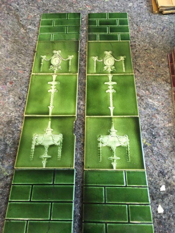 antique fireplace tiles