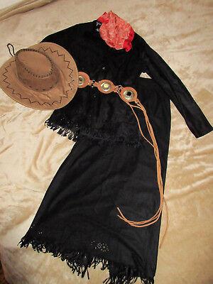 Hammer Lederlook Cowgirl~Kostüm Indianer Gr S Karneval~Fasching~Western~Country (Country Western Kostüm)