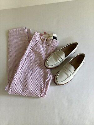 J.Crew 365 Slim Crop Cameron in Light Petunia Pink Stripe Seersucker Pants 0