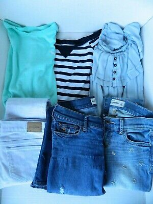 Lot of Abercrombie Kids Girls Clothes Jeans Tops Shirts Crop Medium 14 16 11 12