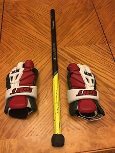 Team New Brunswick lacrosse glove and east coat dyes shaft