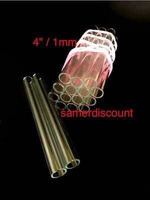 4 Inch Long 10 Mmod And 8 Mm Id Pyrex Glass Blowing Tubes 1 Mm Thick Wall