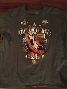 Fear the fighter t shirt