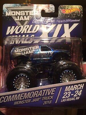2018 Hot Wheels Monster Jam World Finals Commemorative Rare