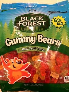 Black Forest Gummy Bears 6 LB /Pack, Made with Real Fruit Juice, Free Shipping