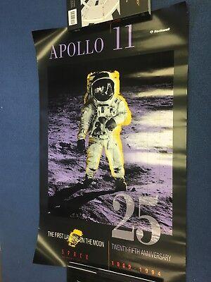 1994 NASA APOLLO 11 MEMORABILIA 25TH ANNIVERSARY COMMEMORATIVE POSTER