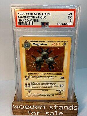 PSA 5 EX Magneton 9/102 Shadowless Holo Base Set Pokemon Card