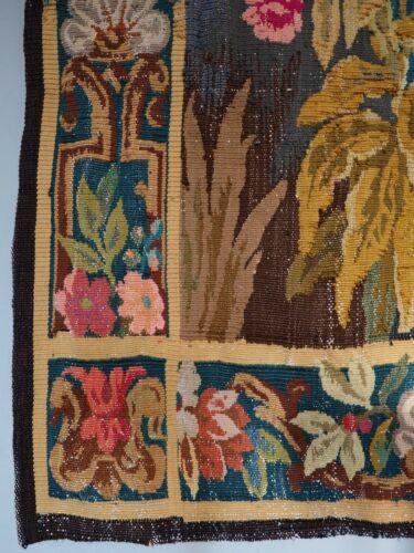 Sublime 19th Century French Aubusson Art Nouveau Verdure Handwoven Tapestry