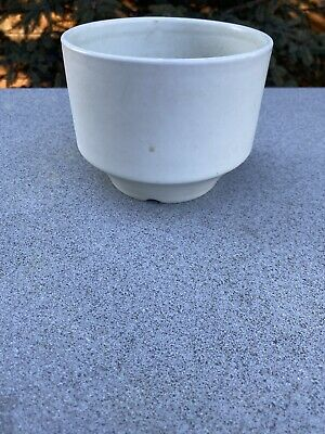 "1960s White Modernist Planter by Richard Lindh for Arabia Finland 5 1/4"" X 4"""
