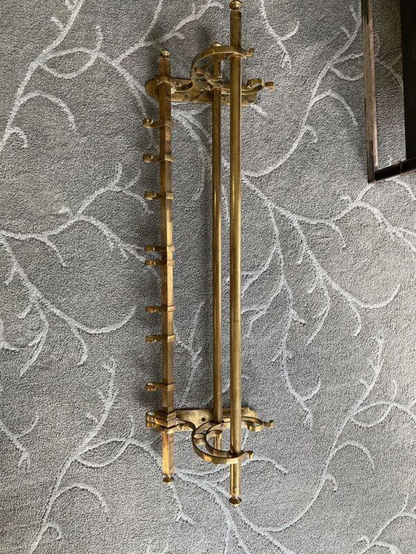 vintage brass wall shelf