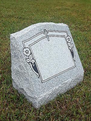 Granite Headstone Memorial Slant w/ 4 Design Options (L16
