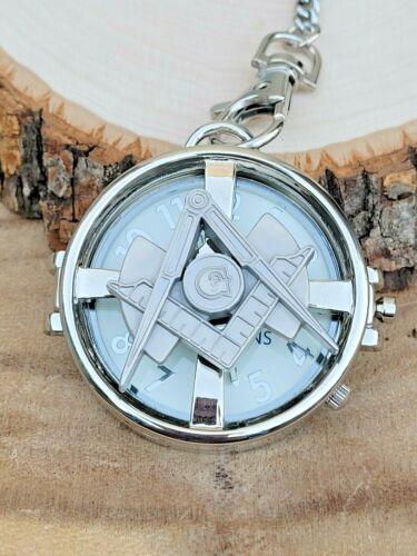 Masonic Square and Compass Pocket Watch Chain - Spin Top - Mason - Freemasons