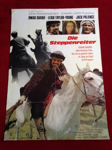 Die Steppenreiter Kinoplakat Poster A1, Omar Sharif, Jack Palance, Frankenheimer