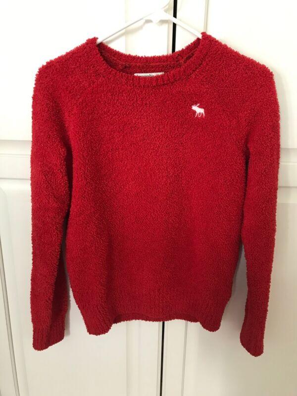 Girls Abercrombie Kids Soft Cozy Sweater Red 11/12