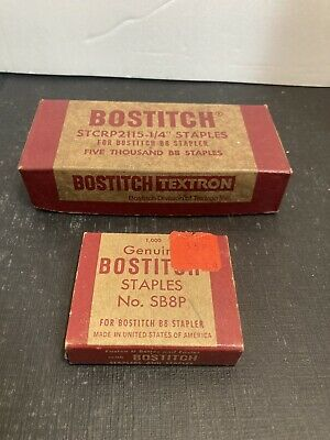 Lot Of 2 Vintage Bostitch B8 Sb8p Staples Boxes Office Supplies