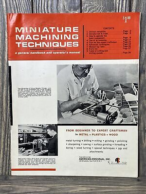 Vintage American-edelstaal Miniature Machining Techniques Manual 1962 Paperback