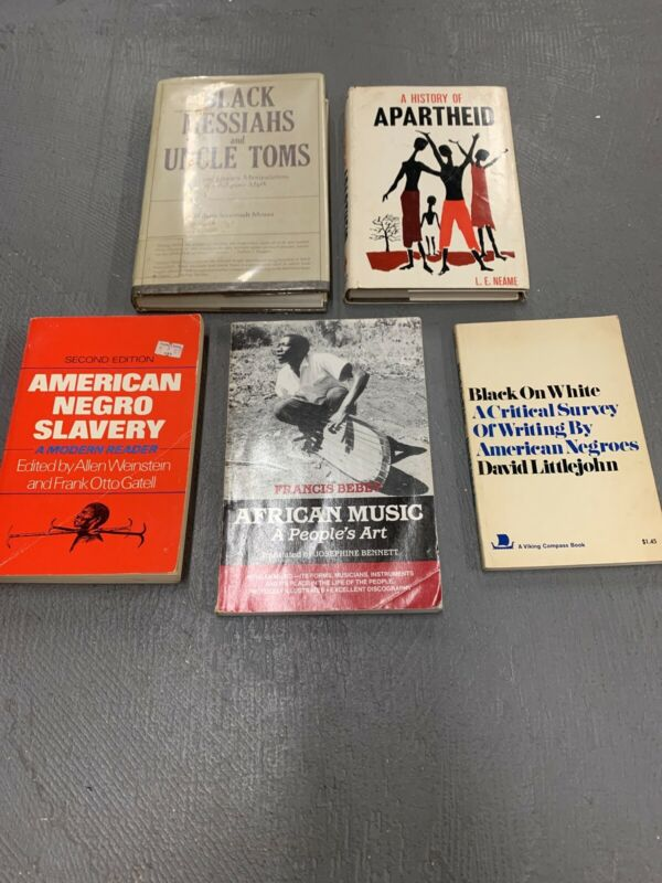 Lot of 5 Vintage Books Black History African American Rare Hard To Find Titles