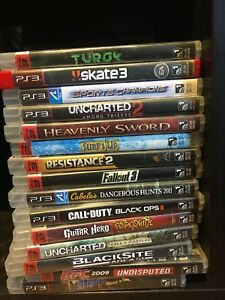 PS3, lots of games and controller