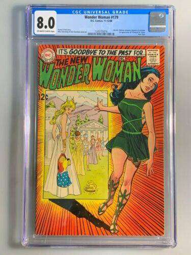 Wonder Woman 179 - CGC 8.0 - 1st I Ching; & Doctor Cyber - Key Book