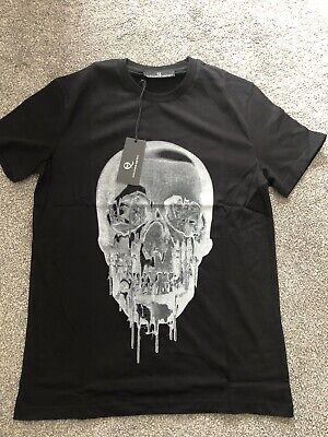 Mens  A Mcqueen Skull T Shirt Black Medium