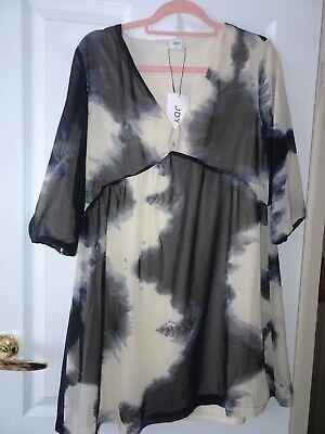 JDY Jacqueline De Yong Roxanne Tie Dye Dress Tunic Boho Festival Size 10 BNWT